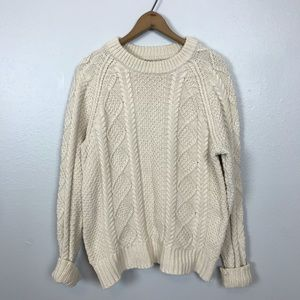 Vintage chunky thick knit cable sweater